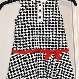 GYMBOREE Olivia Houndstooth Dress sz 3T EUC